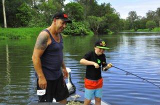 Kids love freshwater fishing.