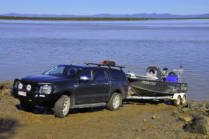Guided Fishing DownUnders Ford Ranger and 5.5m Tabs Boat